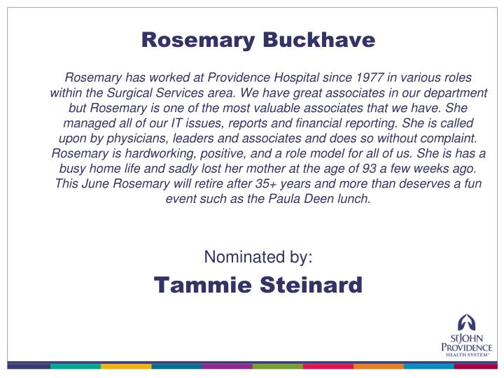 Rosemary Buckhave