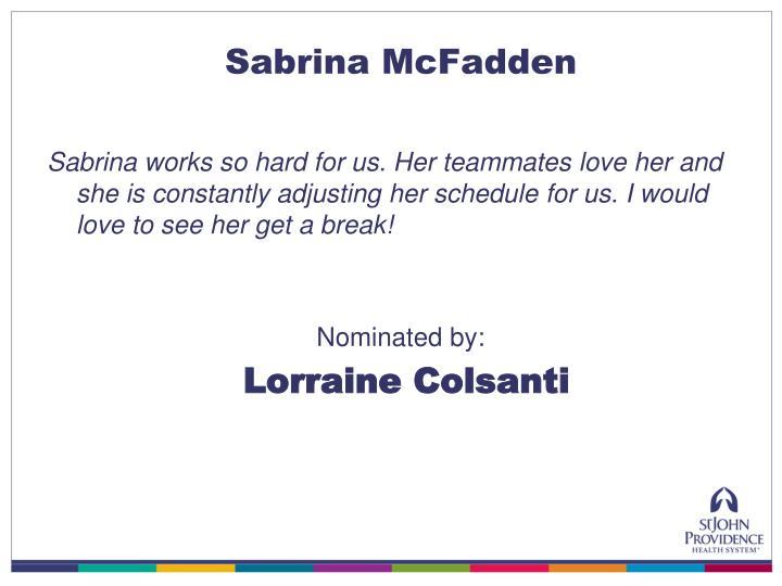 Sabrina McFadden