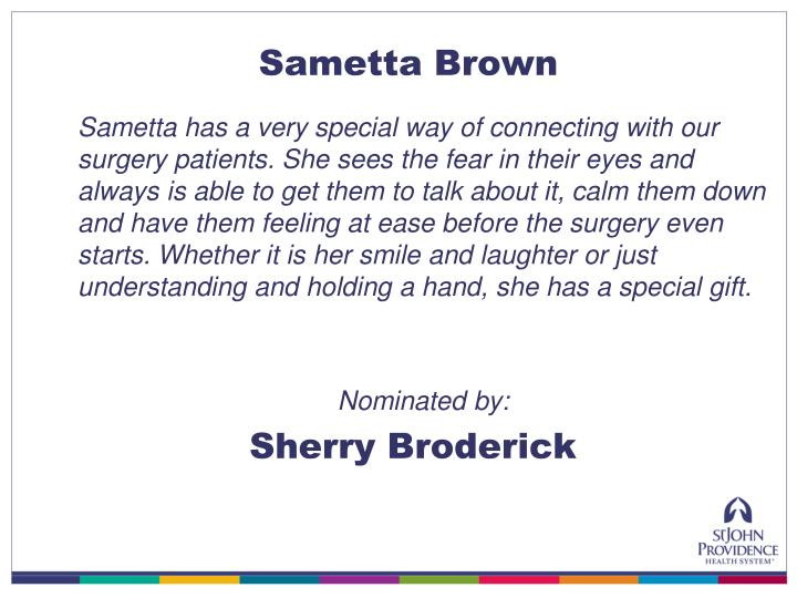 Sametta Brown