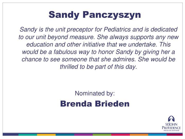 Sandy Panczyszyn