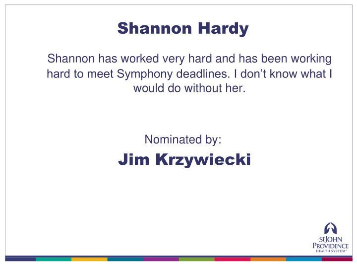 Shannon Hardy