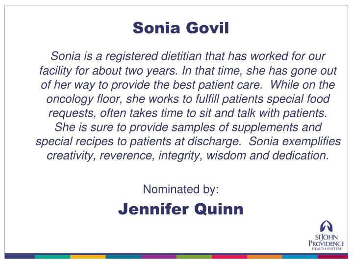 Sonia Govil