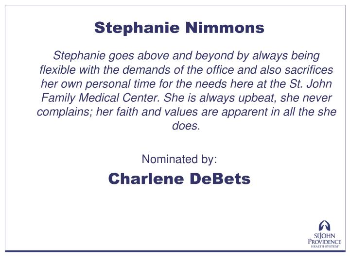 Stephanie Nimmons
