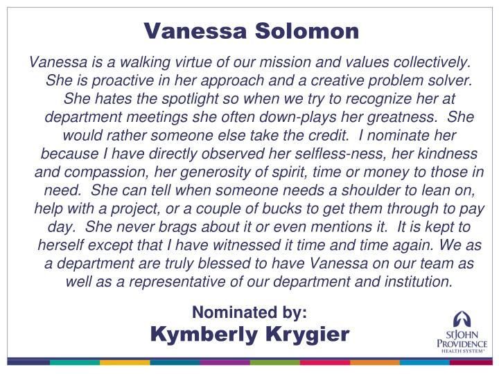 Vanessa Solomon