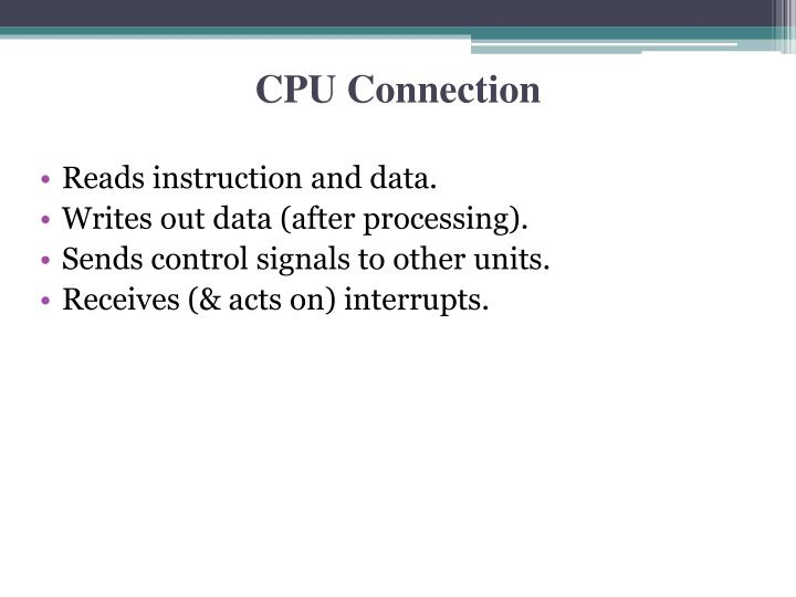 CPU Connection