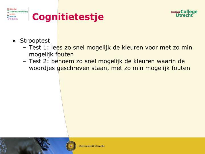 Cognitietestje