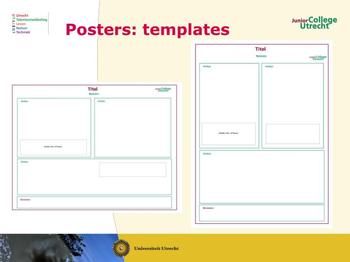 Posters: templates