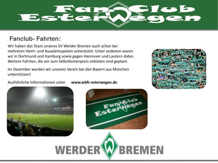 Fanclub- Fahrten: