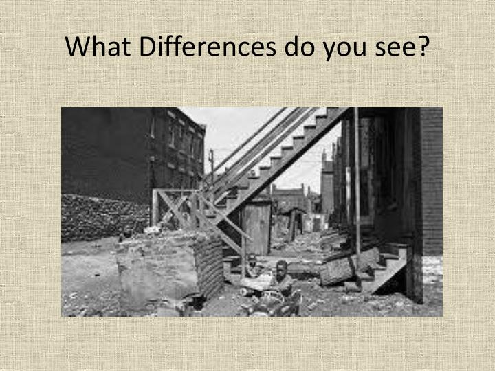 What Differences do you see?