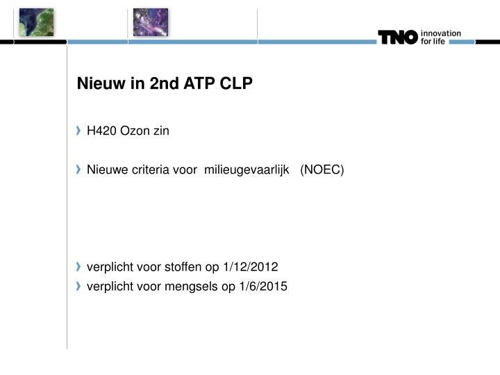 Nieuw in 2nd ATP CLP