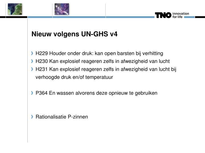 Nieuw volgens UN-GHS v4