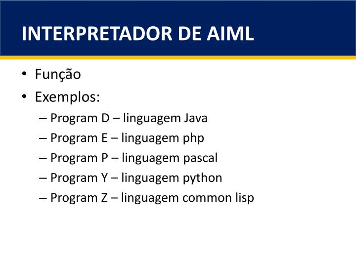 INTERPRETADOR DE AIML