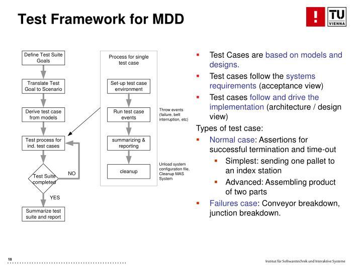 Test Framework for MDD