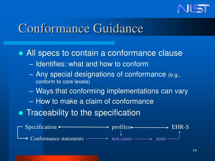 Conformance Guidance