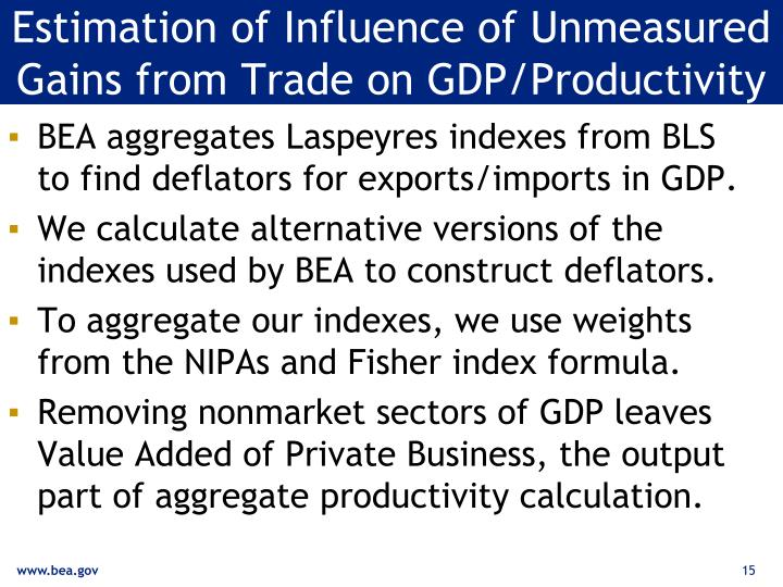 Estimation of Influence of Unmeasured