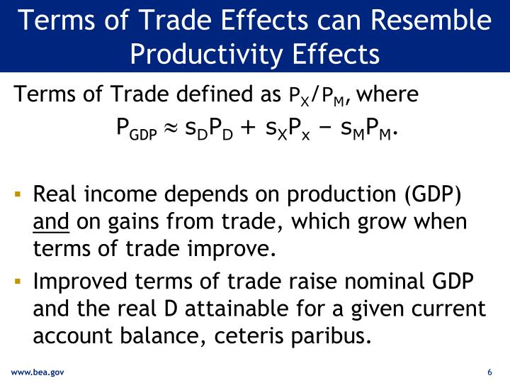 Terms of Trade Effects can Resemble Productivity Effects
