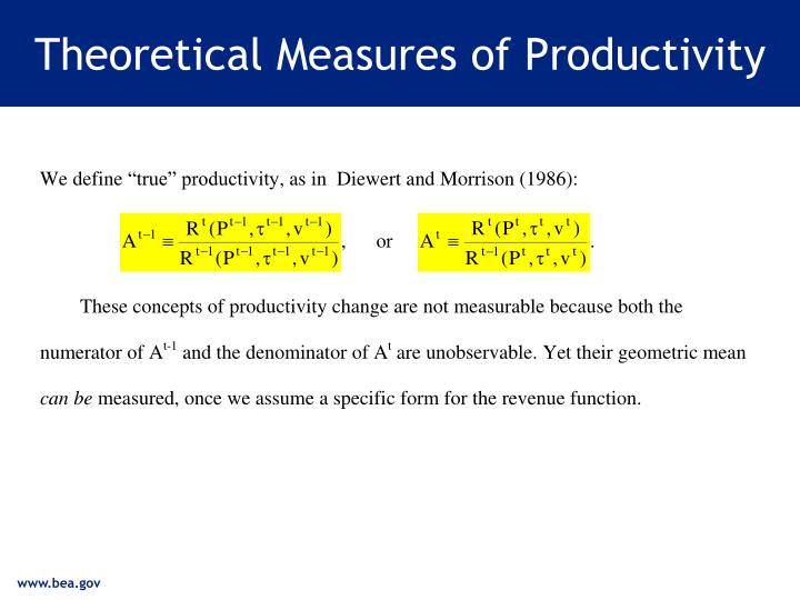 Theoretical Measures of Productivity