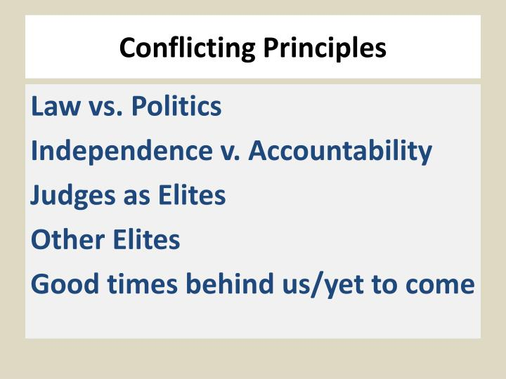 Conflicting Principles