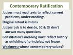 contemporary ratification