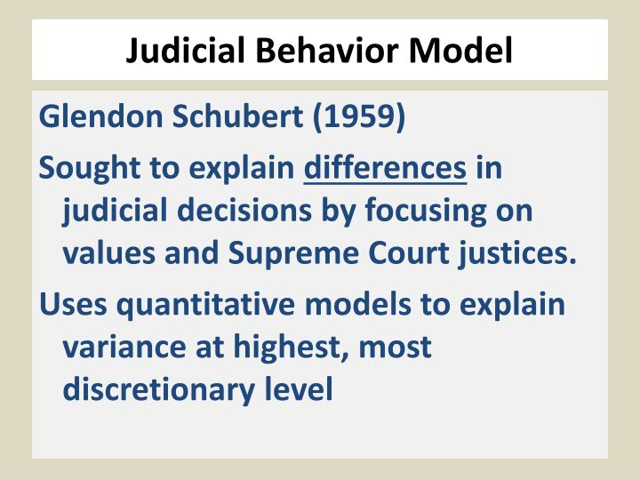 Judicial Behavior Model