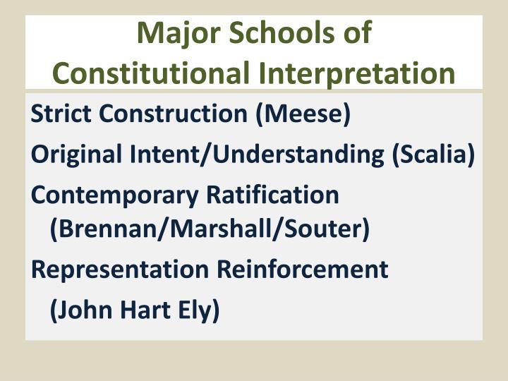 Major Schools of