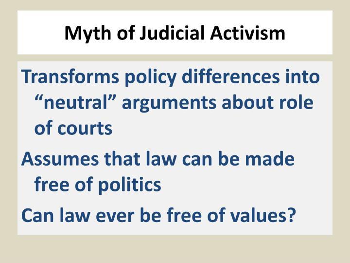 Myth of Judicial Activism