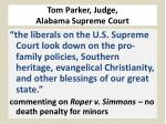 tom parker judge alabama supreme court