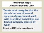 tom parker judge alabama supreme court1