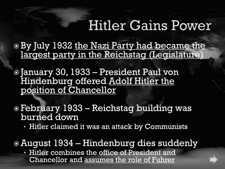 Hitler Gains Power