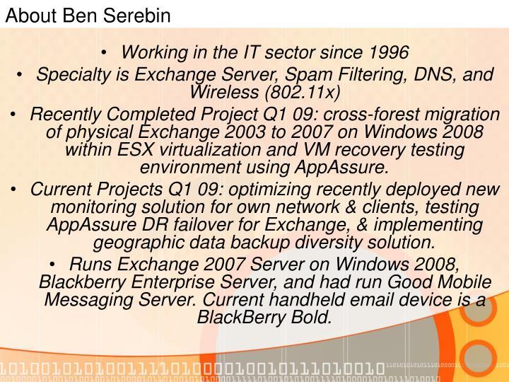 About Ben Serebin