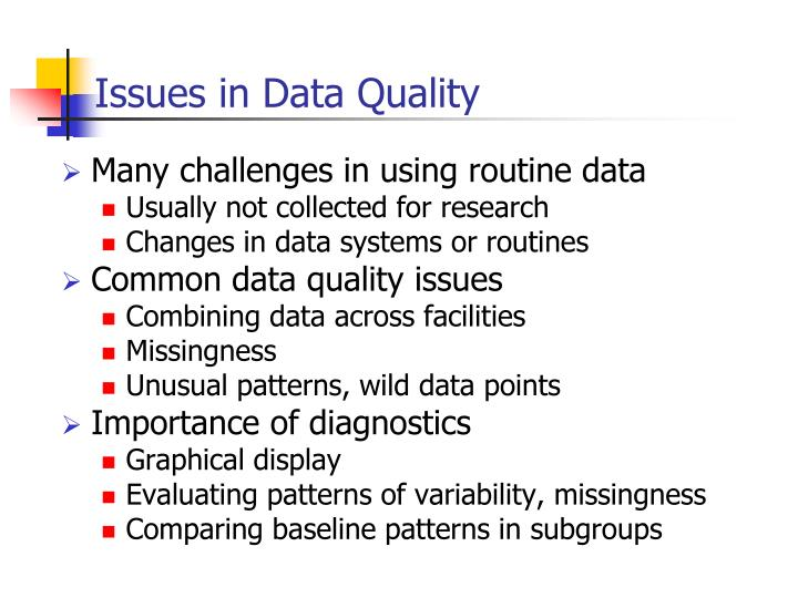 Issues in Data Quality