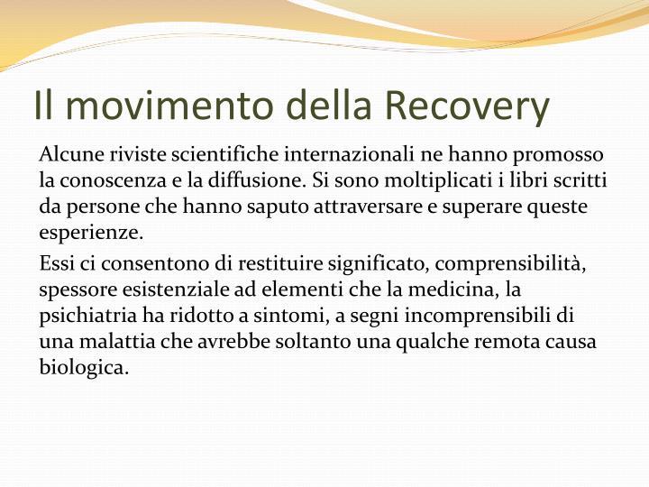 Il movimento della Recovery