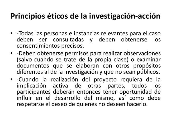 Principios éticos de la investigación-acción
