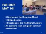 fall 2007 mat 101