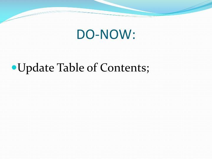 DO-NOW: