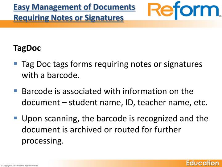 Easy Management of Documents Requiring Notes or Signatures