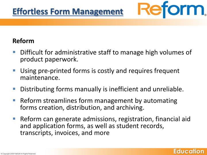 Effortless Form Management