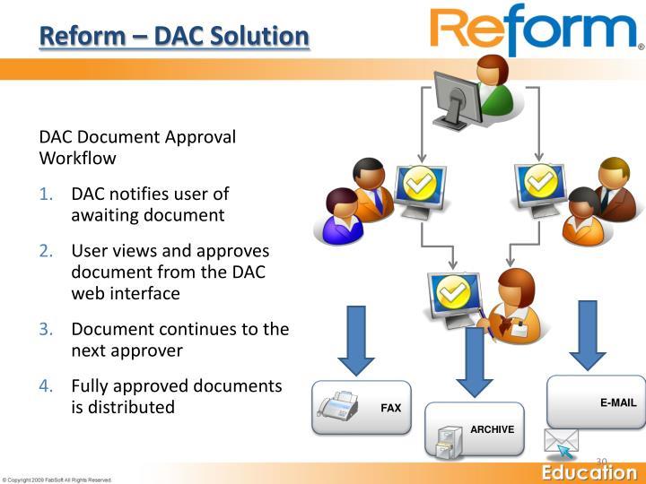 Reform – DAC Solution