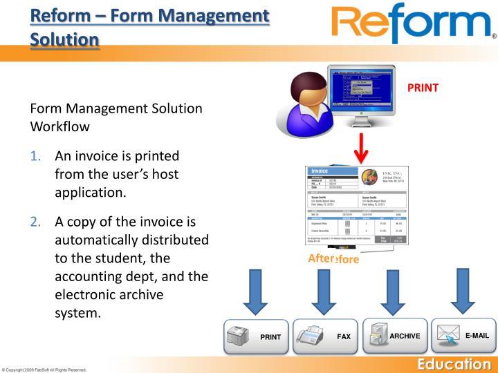 Reform – Form Management Solution