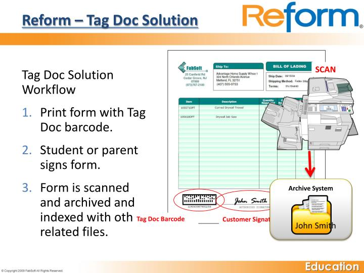 Reform – Tag Doc Solution