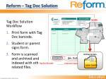 reform tag doc solution