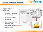 reform tag doc solution1