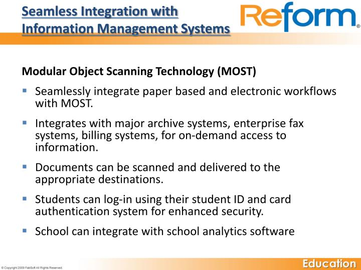 Seamless Integration with Information Management Systems