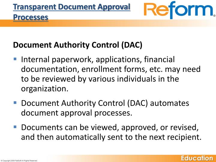 Transparent Document Approval Processes