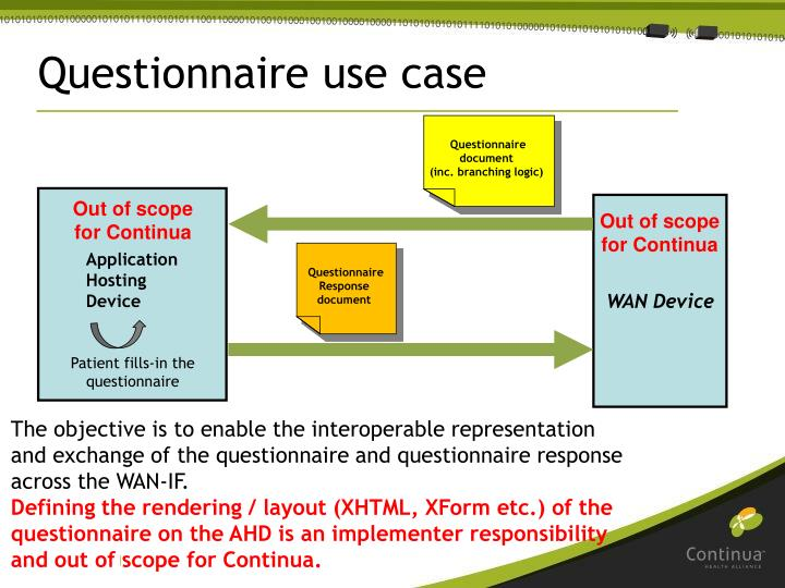 Questionnaire use case