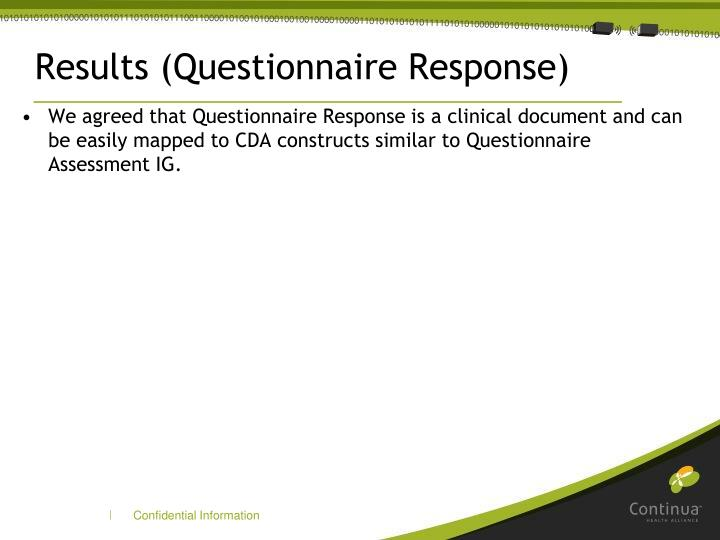 Results (Questionnaire Response)