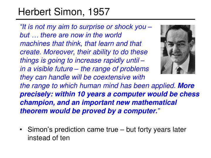 Herbert Simon, 1957