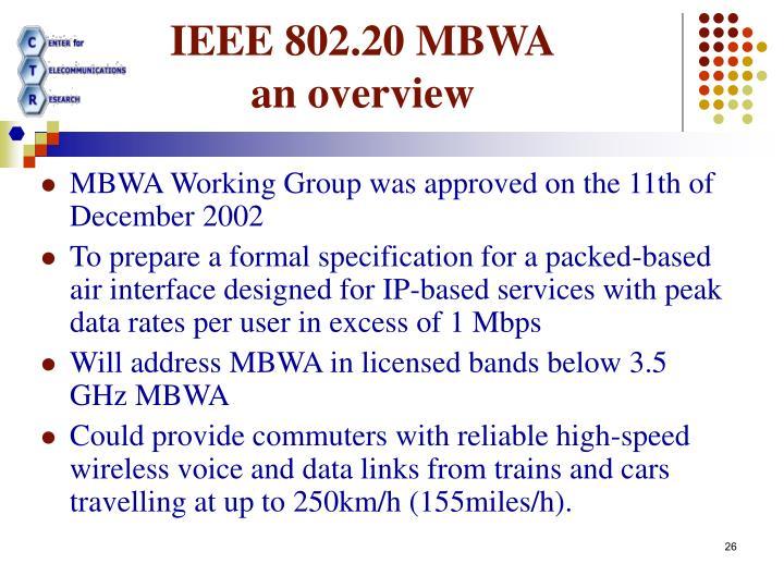 IEEE 802.20 MBWA