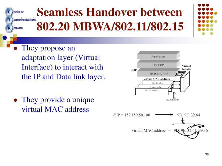 Seamless Handover between
