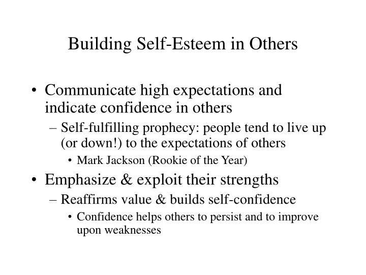 Building Self-Esteem in Others